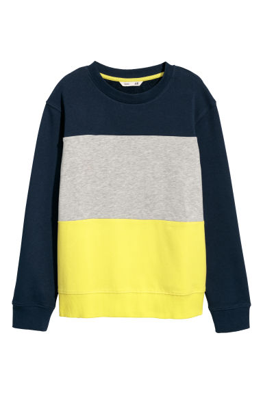 Felpa - Blu scuro/color block - BAMBINO | H&M IT