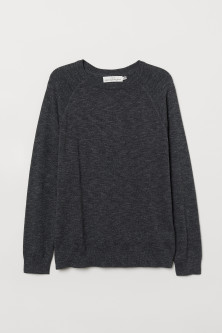 Cotton raglan-sleeved jumper