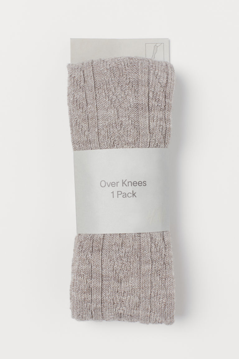 Over-the-knee socks - Light mole - Ladies | H&M CN