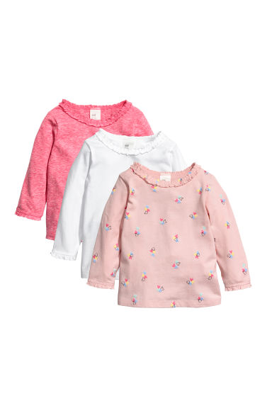 3-pack jersey tops - Pink/Hearts - Kids | H&M