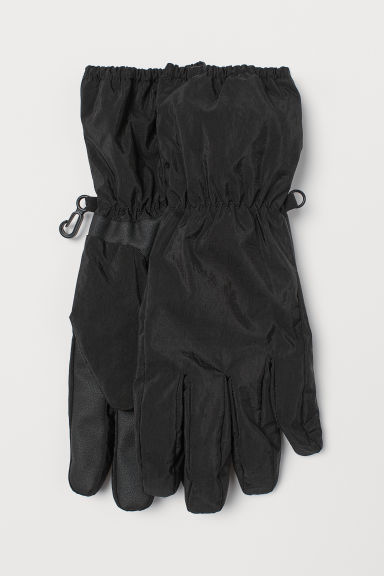 Fleece-lined gloves - Black - Men | H&M