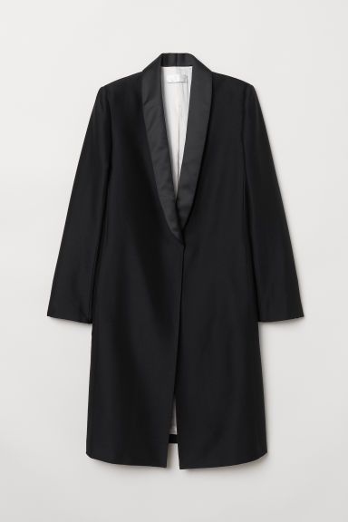 Long wool-blend jacket - Black - Ladies | H&M