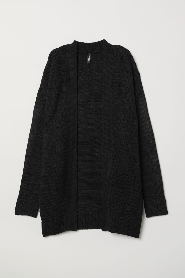 Knitted cardigan - Black -  | H&M IN