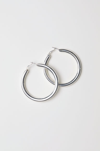 Large Earrings - Silver-coloured - Ladies | H&M US