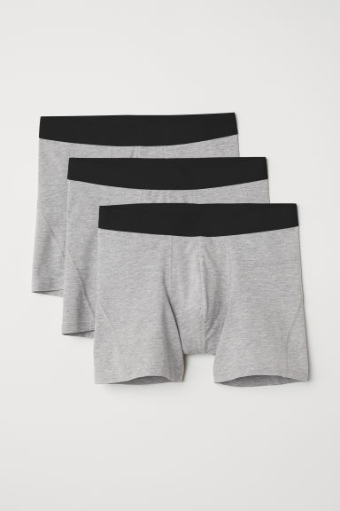 3-pack short trunks - Grey marl - Men | H&M