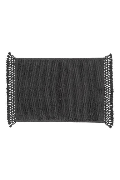 Textured bath mat - Anthracite grey - Home All | H&M CN