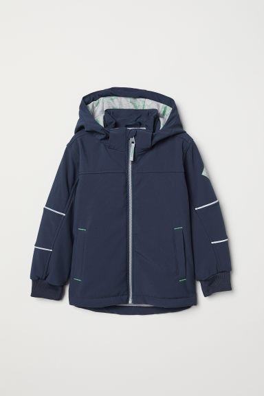 Padded softshell jacket - Dark blue - Kids | H&M CN