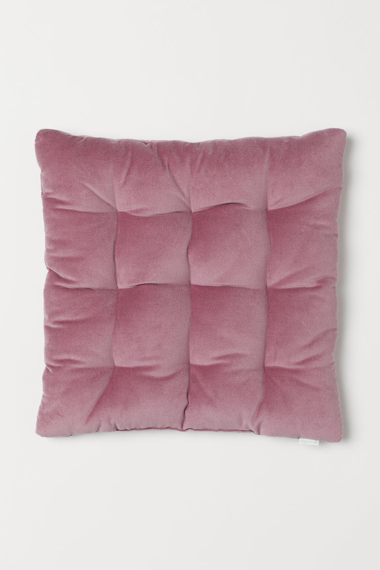 Velvet seat cushion - Dark pink - Home All | H&M CN