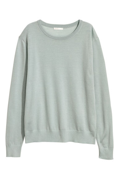 Knitted wool jumper - Mint green - Ladies | H&M CN