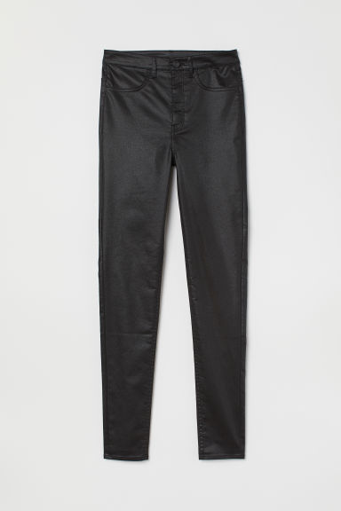 Super Skinny High Jeans - Noir/enduit -  | H&M FR