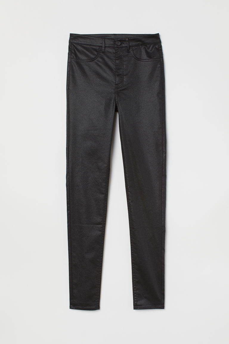Super Skinny High Jeans - Black/Coating - | H&M GB 1