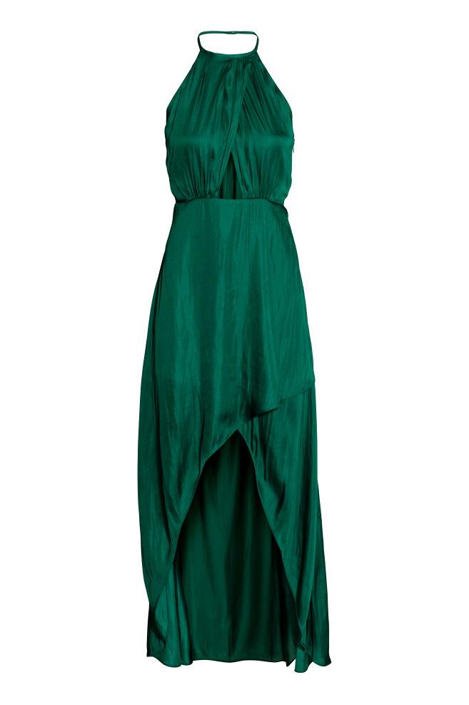c2e7c4a1f Vestido cruzado - Verde esmeralda - MUJER