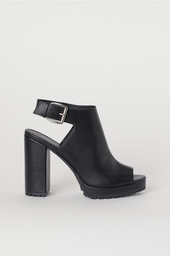 f40a9315655 Open-toe Boots - Black - | H&M ...