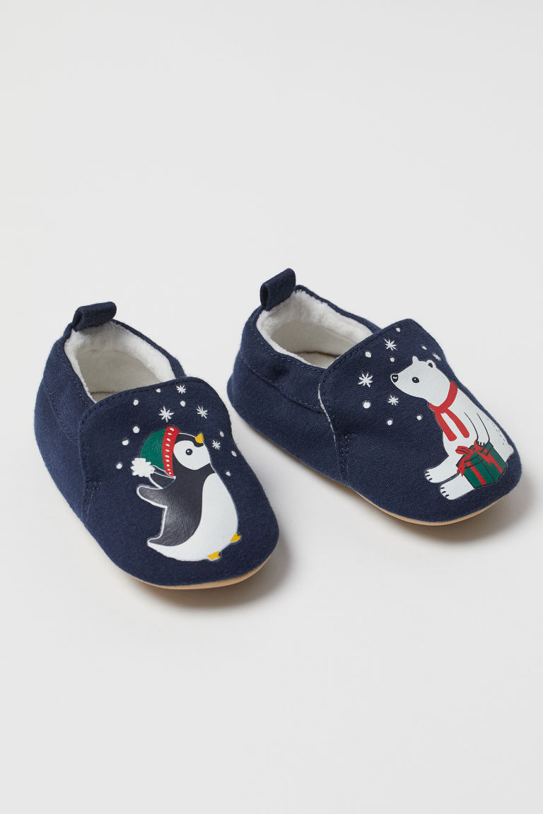 Soft slippers - Dark blue - Kids | H&M CN