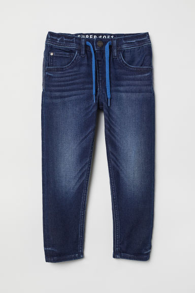Joggers in denim Super Soft - Blu denim scuro - BAMBINO | H&M IT