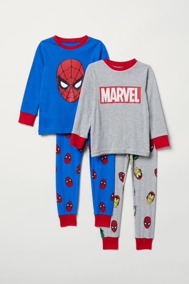 2-pack pyjamas - Blue/Avengers - Kids | H&M