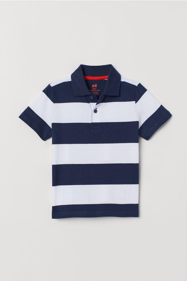 2c84bdad09b9 Poloshirt - Dunkelblau Weiß gestreift - Kids