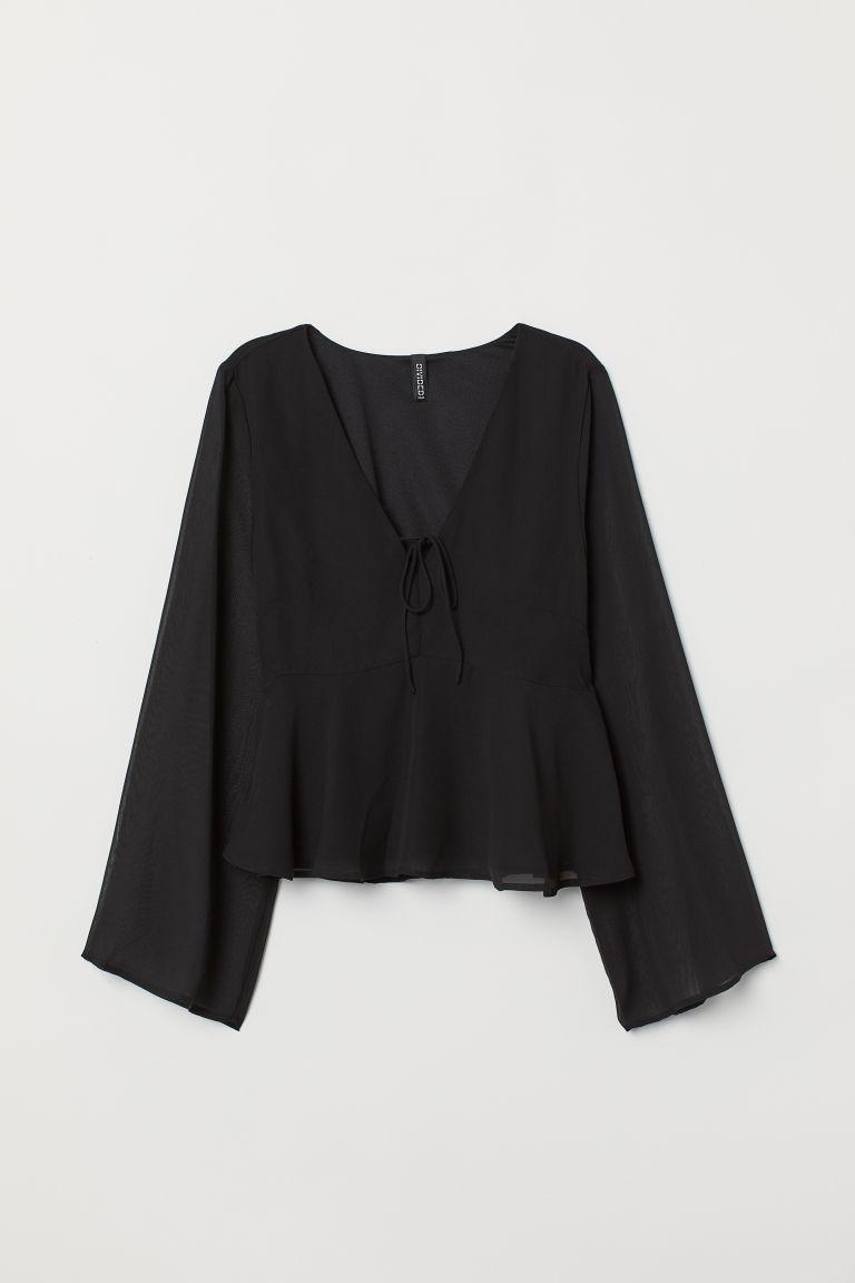 Release-Info zu online Shop großer Lagerverkauf Bluse mit V-Ausschnitt