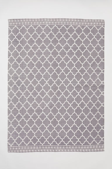 Patterned cotton rug - Grey -  | H&M CN