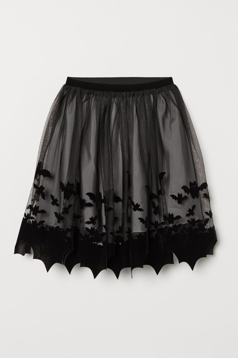 Patterned tulle skirt - Black - Kids | H&M CN