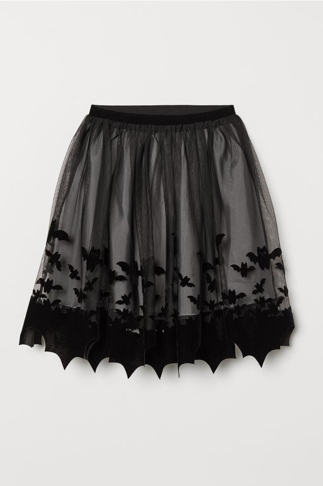 4c6c1ba523 Falda estampada de tul - Negro - NIÑOS