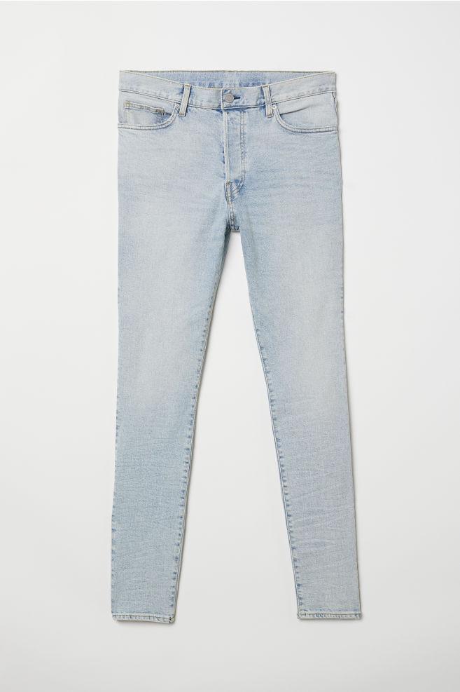 a3423173a3 Skinny Carrot Jeans - Azul denim claro - HOMBRE