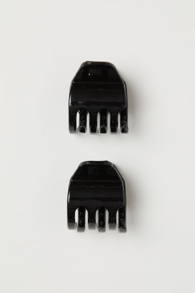2-pack hair clips - Black -  | H&M
