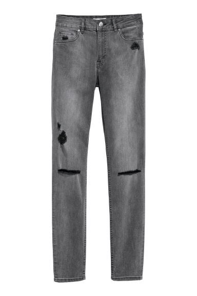 Skinny Regular Jeans - Dark grey - Ladies | H&M