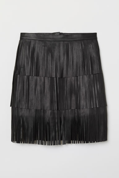 Skirt with fringing - Black - Ladies | H&M