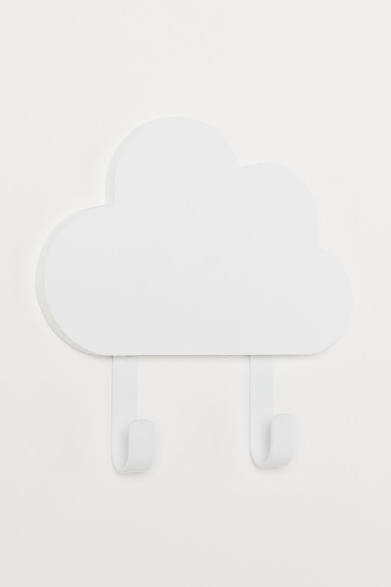 Metal and wood hook - White/Clouds - Home All | H&M GB