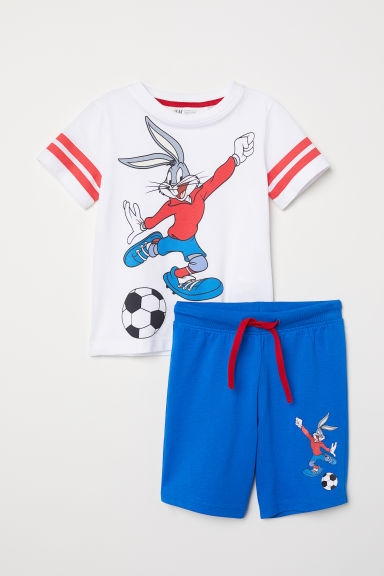 T-shirt and shorts - White/Bugs Bunny -  | H&M