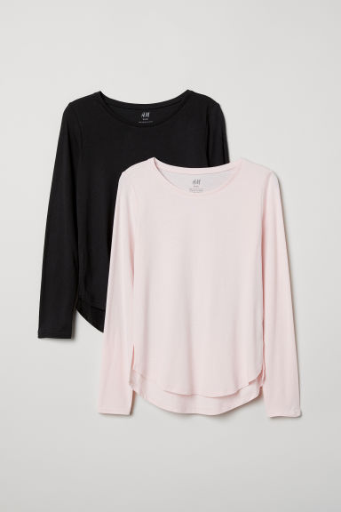 2-pack tops - Light pink/Black - Kids | H&M