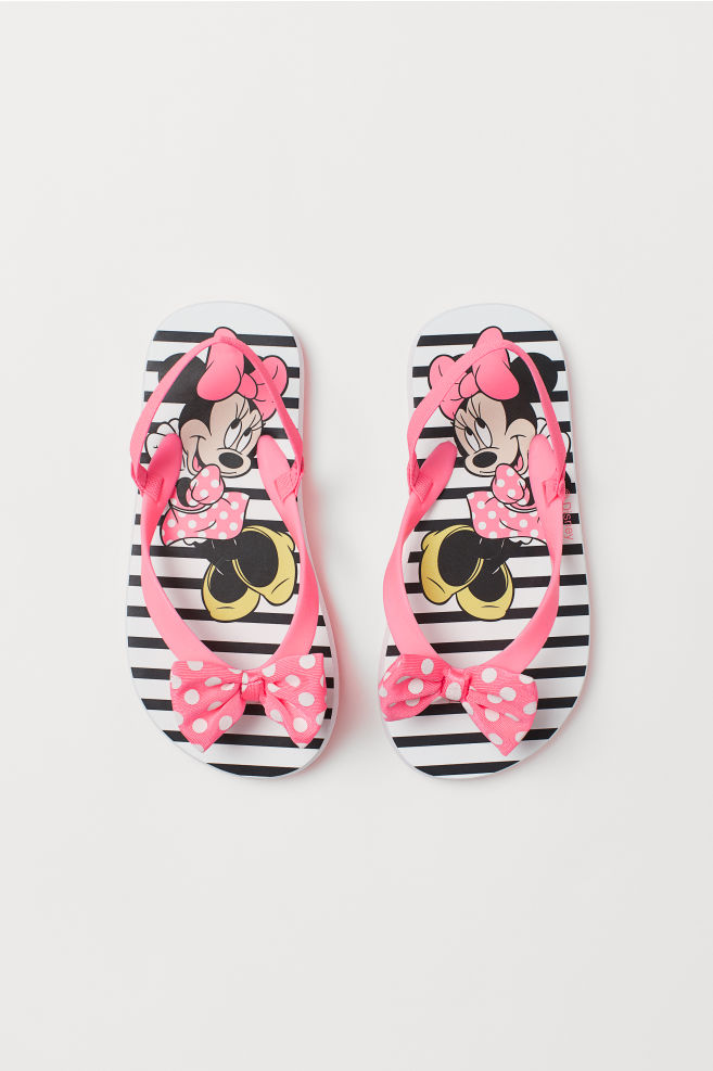db62224121 Flip-flops with a bow - Pink/Minnie Mouse - | H&M ...