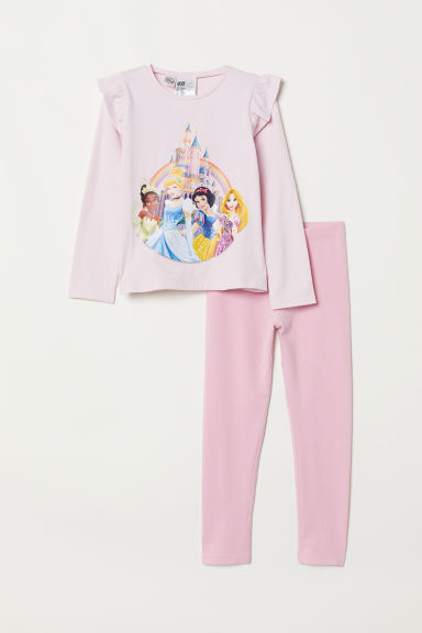 Jersey pyjamas - Pink/Disney princesses - Kids | H&M CN