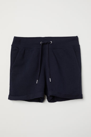 Sweatshirt shorts - Dark blue - Ladies | H&M