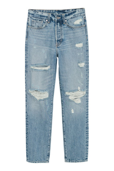 Mom Jeans - Azul denim/Trashed -  | H&M ES