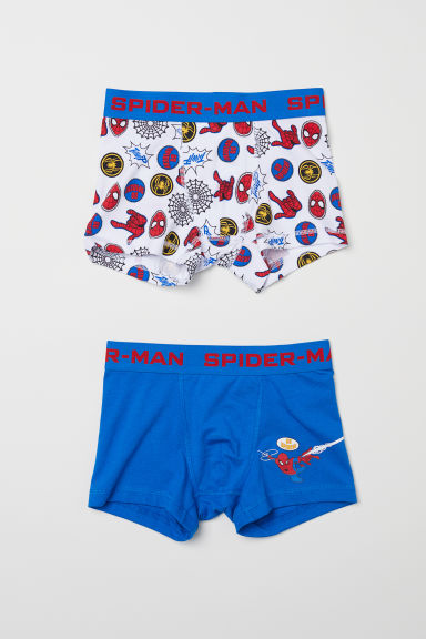 Boxers, lot de 2 - Bleu/Spider-Man - ENFANT | H&M FR