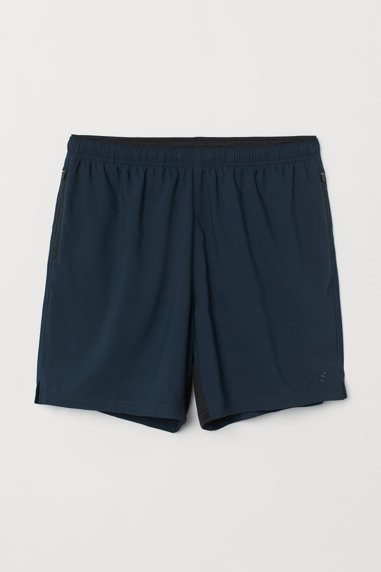 Running shorts - Dark blue - Men | H&M CN