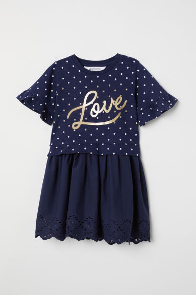 Sweatshirt dress - Dark blue/Love -  | H&M CN