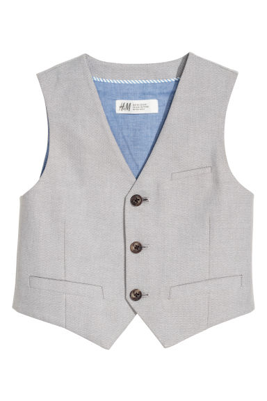 Cotton suit waistcoat - Light grey - Kids | H&M