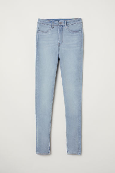 Super Skinny High Jeans - Light denim blue -  | H&M CN