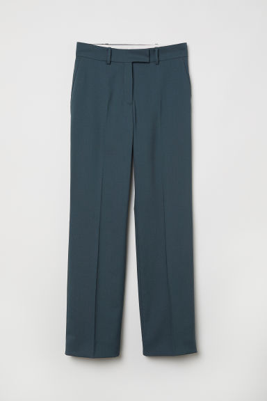 Wool suit trousers - Dusky green - Ladies | H&M CN