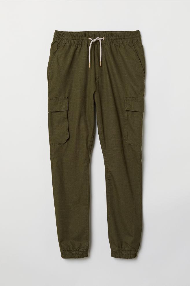 40c670f36 Cargo Joggers - Dark khaki green - Men