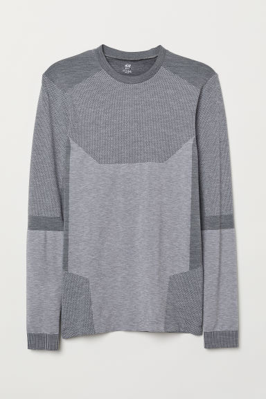 Thermoshirt - Seamless - Grijs gemêleerd - HEREN | H&M BE