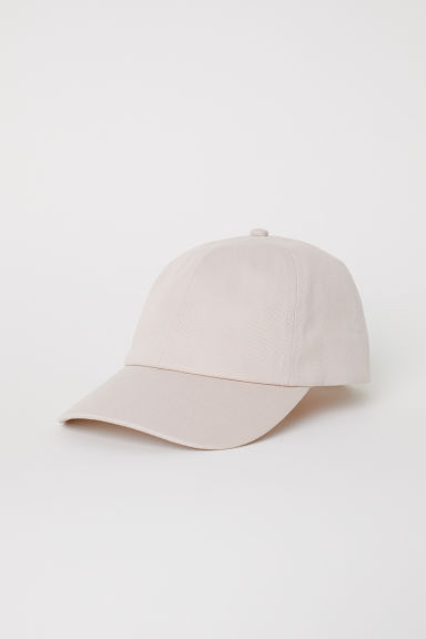 Cotton canvas cap - Light beige - Ladies | H&M CN
