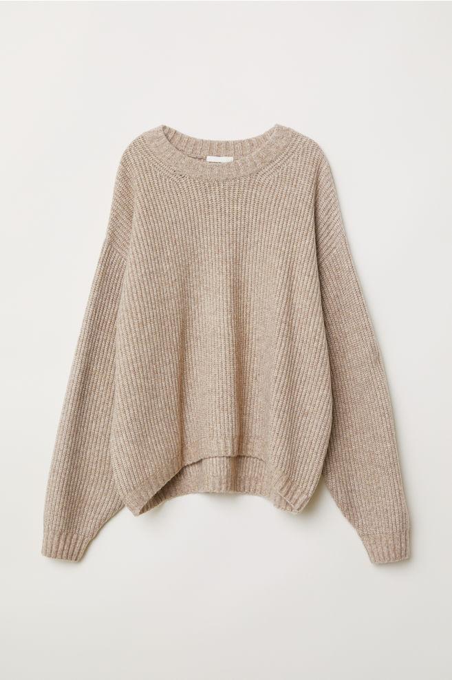 95f1509145 Knit Sweater - Beige melange - Ladies