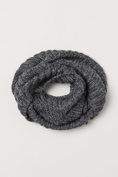 Wool-blend tube scarf - Grey marl - Men | H&M