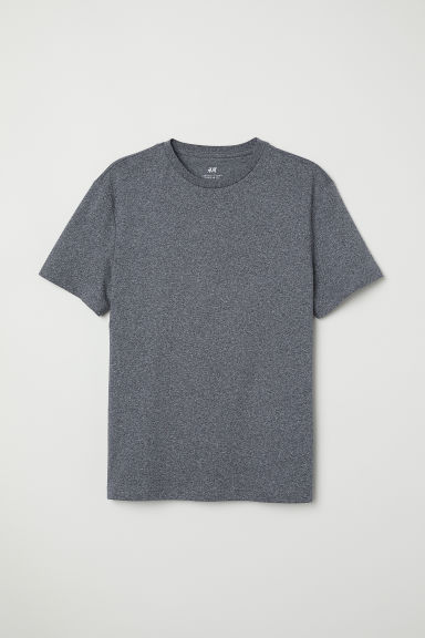 T-shirt - Regular fit - Donkerblauw gemêleerd - HEREN | H&M NL