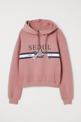 Printed Hooded Sweatshirt 25a116ac9