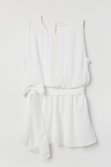 MAMA Sleeveless nursing blouse - White - Ladies | H&M
